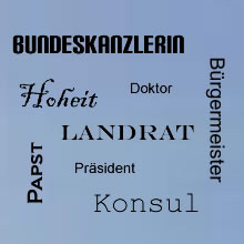 ETTI + PARTNER – Training – Beratung – Coaching – München – Webinare - Umgang mit Amtstiteln so fühlt sich Ihr Kunde richtig angesprochen